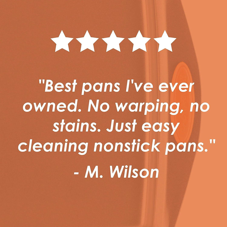 Rachael Ray Yum -o! Nonstick Bakeware Baking Pan / Nonstick Cake Pan, Square - 9 Inch, Gray: Kitchen & Dining
