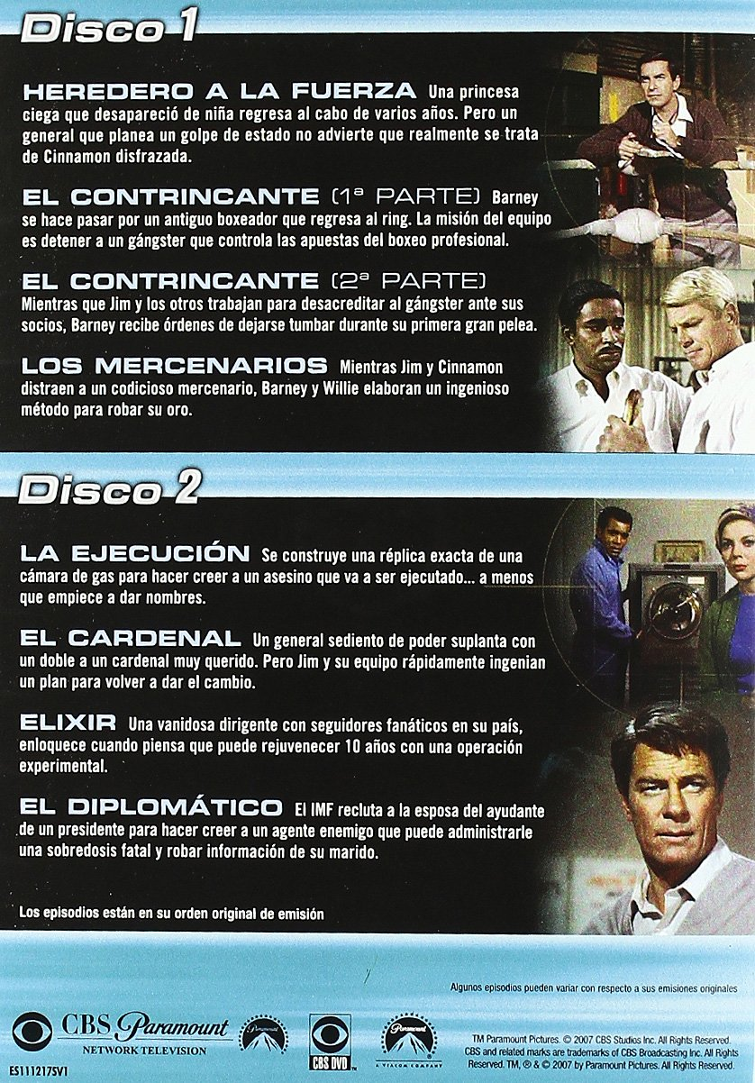 Misión imposible (3ª temporada) [DVD]: Amazon.es: Barbara Bain, Greg Morris, Martin Landau, Peter Lupus, Varios: Cine y Series TV