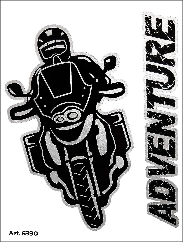 10 x 12 cm 4R Quattroerre.it 6330 Super geformter Aufkleber Adventure Motorrad Abenteuer