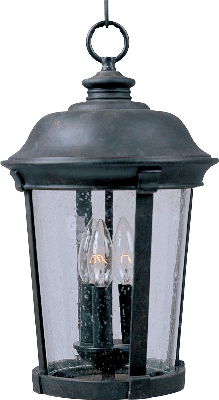 Maxim Lighting 30099CDBZ 3 Light Dover Outdoor Pendant Bronze