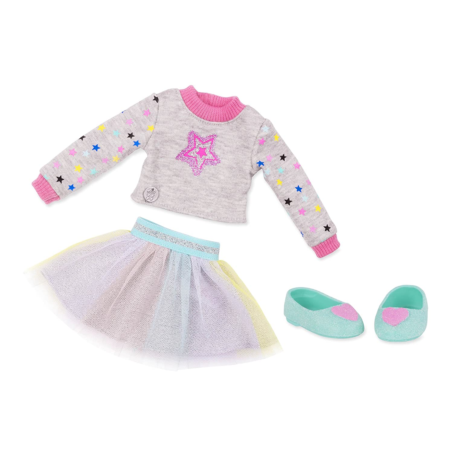Glitter Girls by Battat - Sparkling with Style Glittery Top & Skirt Regular Outfit - 14' Doll Clothes & Accessories Toys
