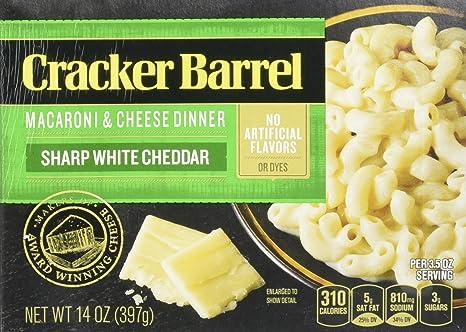 Amazon.com : Cracker Barrel Macaroni and Cheese, Sharp Cheddar ...