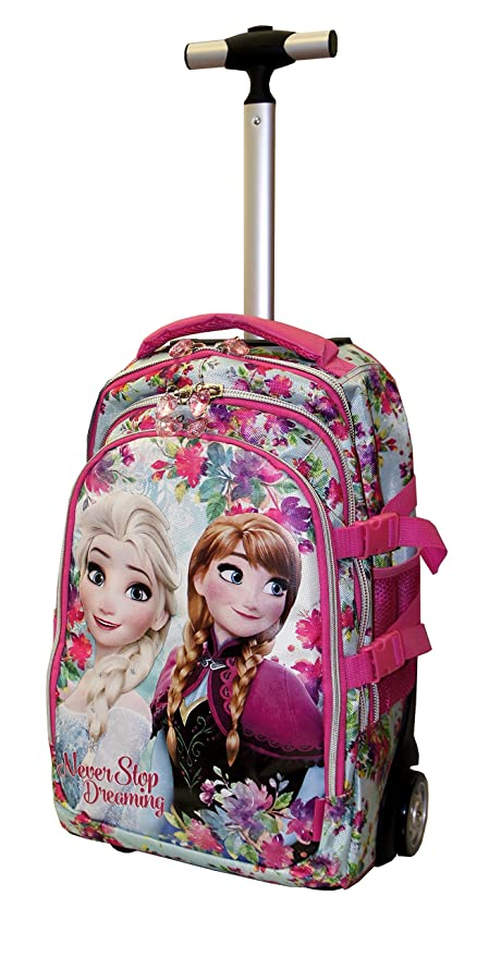 Never Scuola Bambina Ragazza Frozen per con Trolley Zaino Rotelle td8wxwaq6