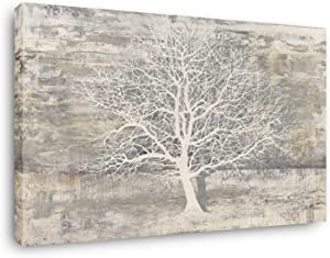 Yihui Arts Abstract Trees Painting Canvas Prints Wall Art Decor Framed - Large Modern Giclee Art Print on Canvas Ready to Hang for Home and Office Wall Decoration with Textured Boho