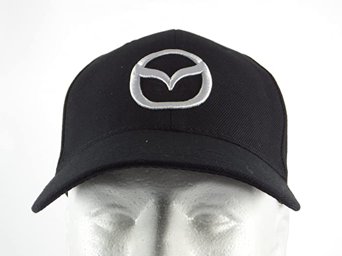 mazda mx 5 baseball cap new hat black adjustable back amazon men clothing store miata
