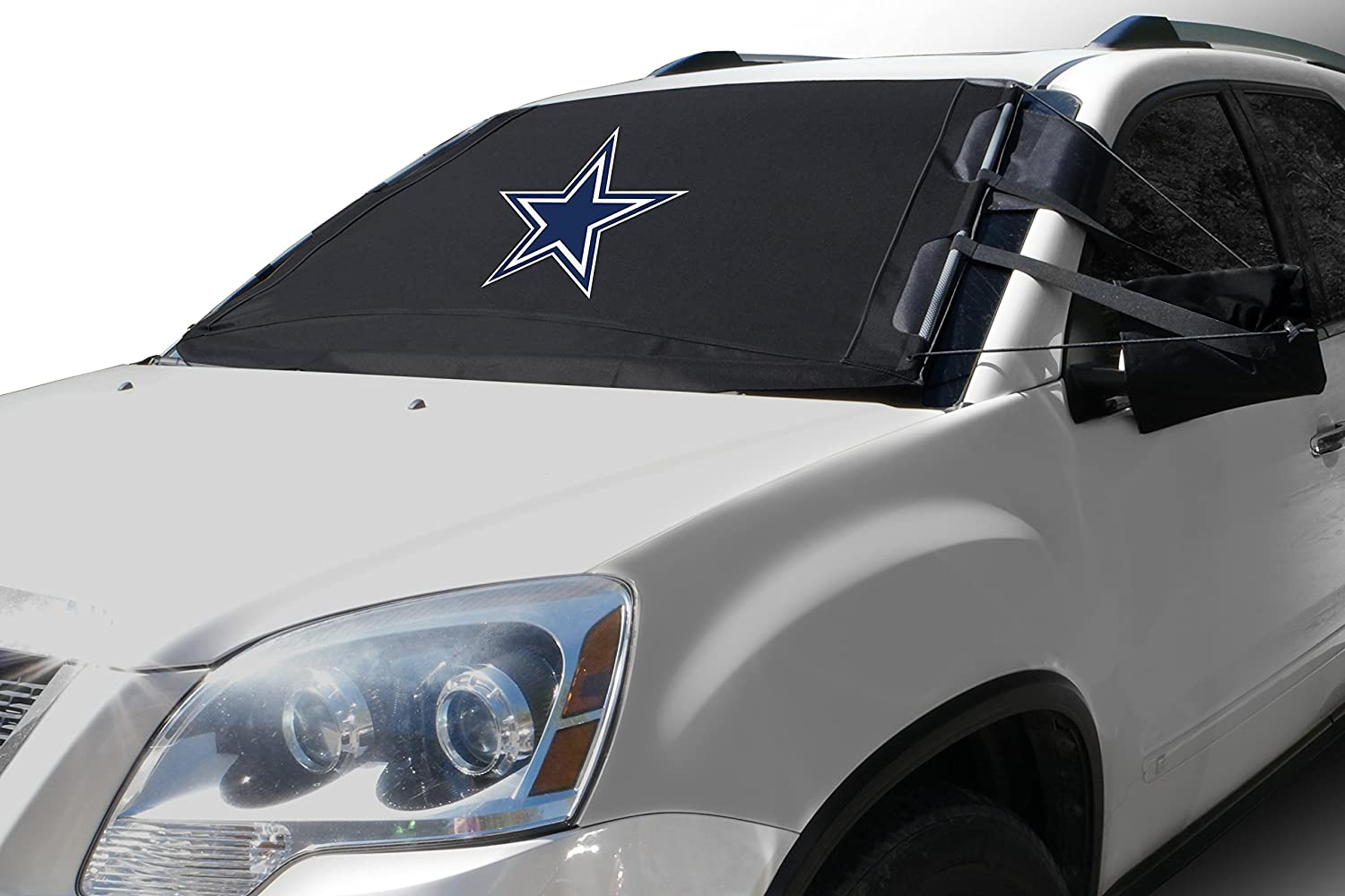 Amazon com nfl frostguard winter snow ice and frost windshield cover dallas cowboys standard size automotive