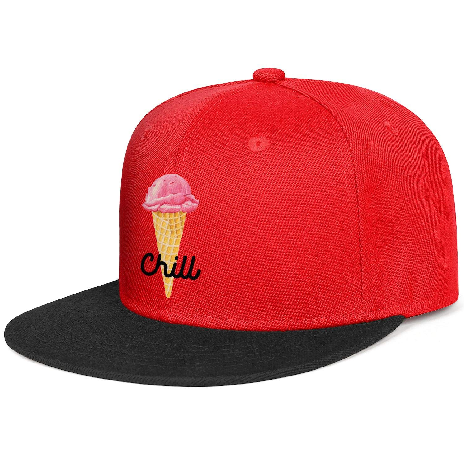 Unisex Mesh Snapback Cap Choco Ice Cream Bar Flat Hip Hop Baseball Hats