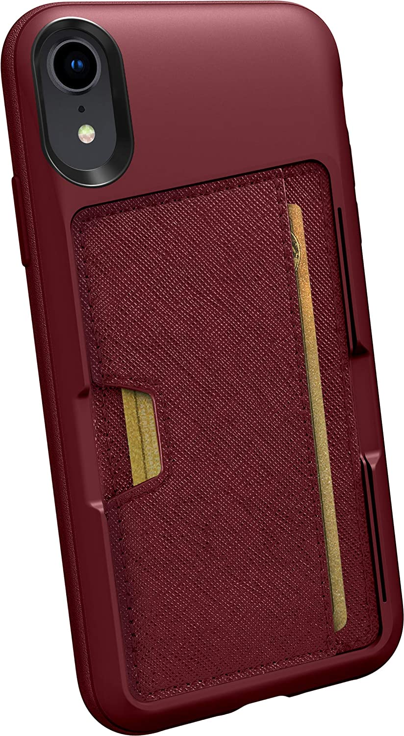 Silk iPhone XR Wallet Case - Wallet Slayer Vol. 2 [Slim Protective Kickstand CM4 Q Card Case Grip Cover] - Red Rover Red Rover QXM-RED