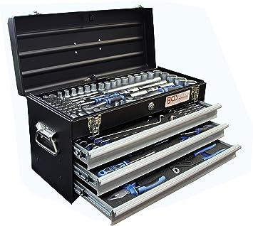 BGS 3318 | Maletín de herramientas metálico | 3 cajones | con 143 ...