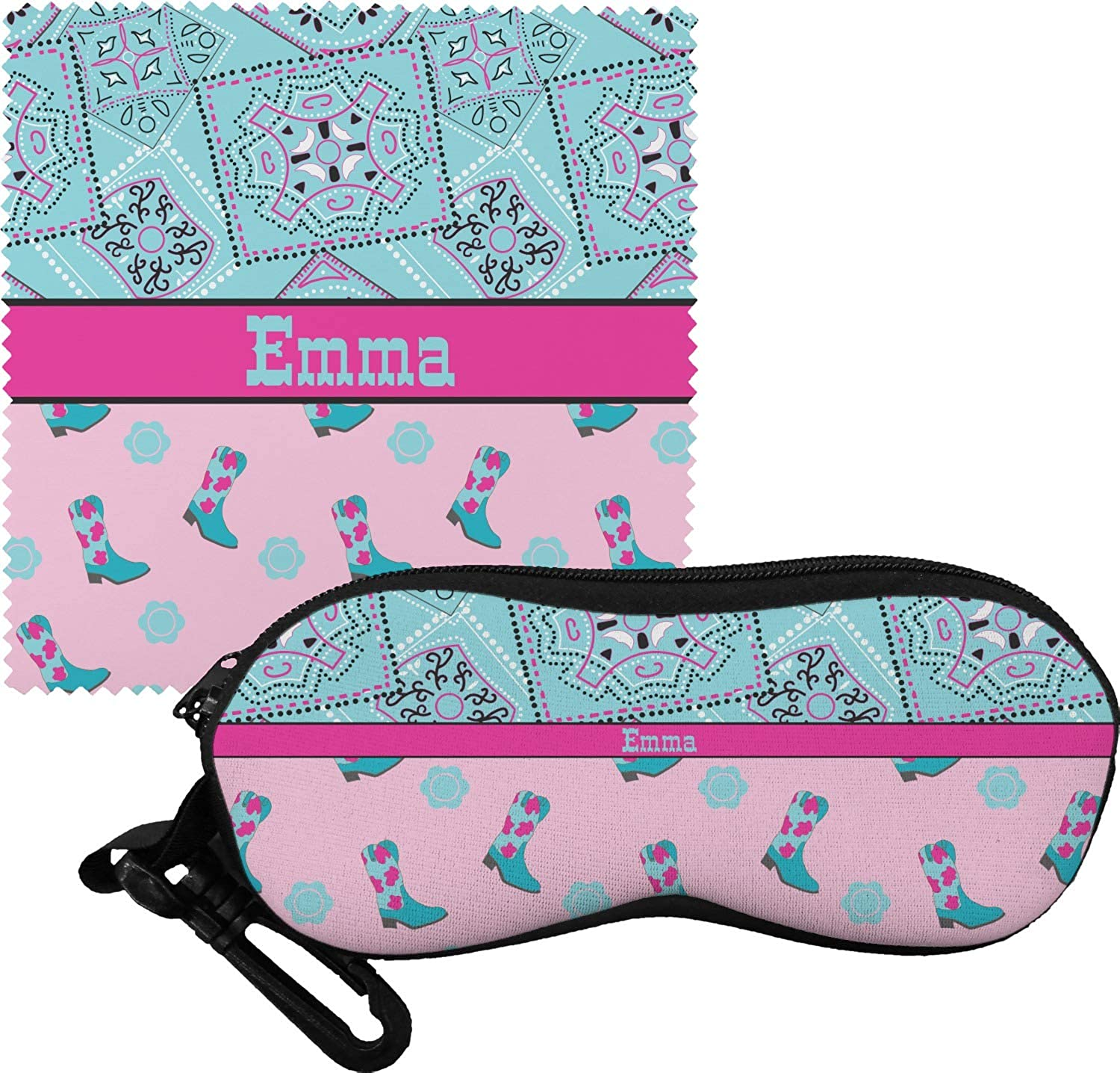Personalized Cowgirl Eyeglass Case /& Cloth