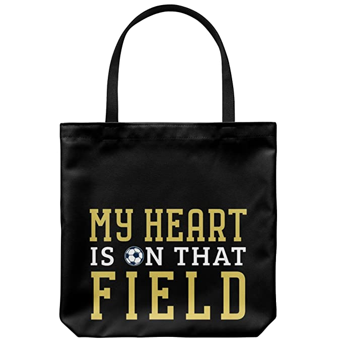 Amazoncom Funny Soccer Dad Canvas Tote Bag Fathers Day Football