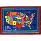 Fun Rugs Children's Fun Time Collection Rug, State Capitals