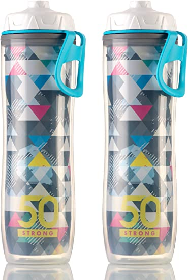 Polar 24oz Color Series Insulated Double Walled Cycling Plastic Water Bottle New