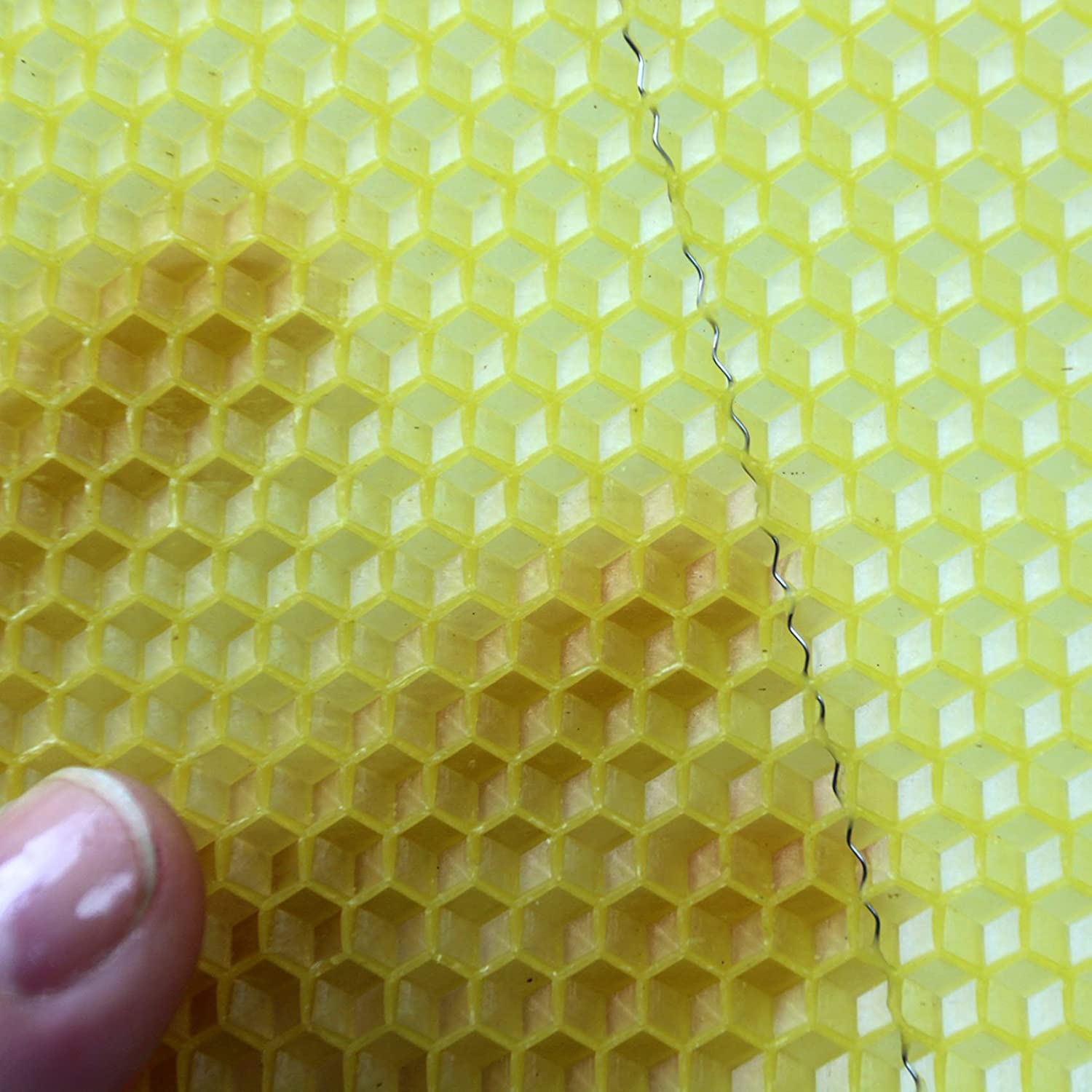 50 easibee National Bee Hive Brood Wired 100/% Natural Beeswax Foundation Sheets