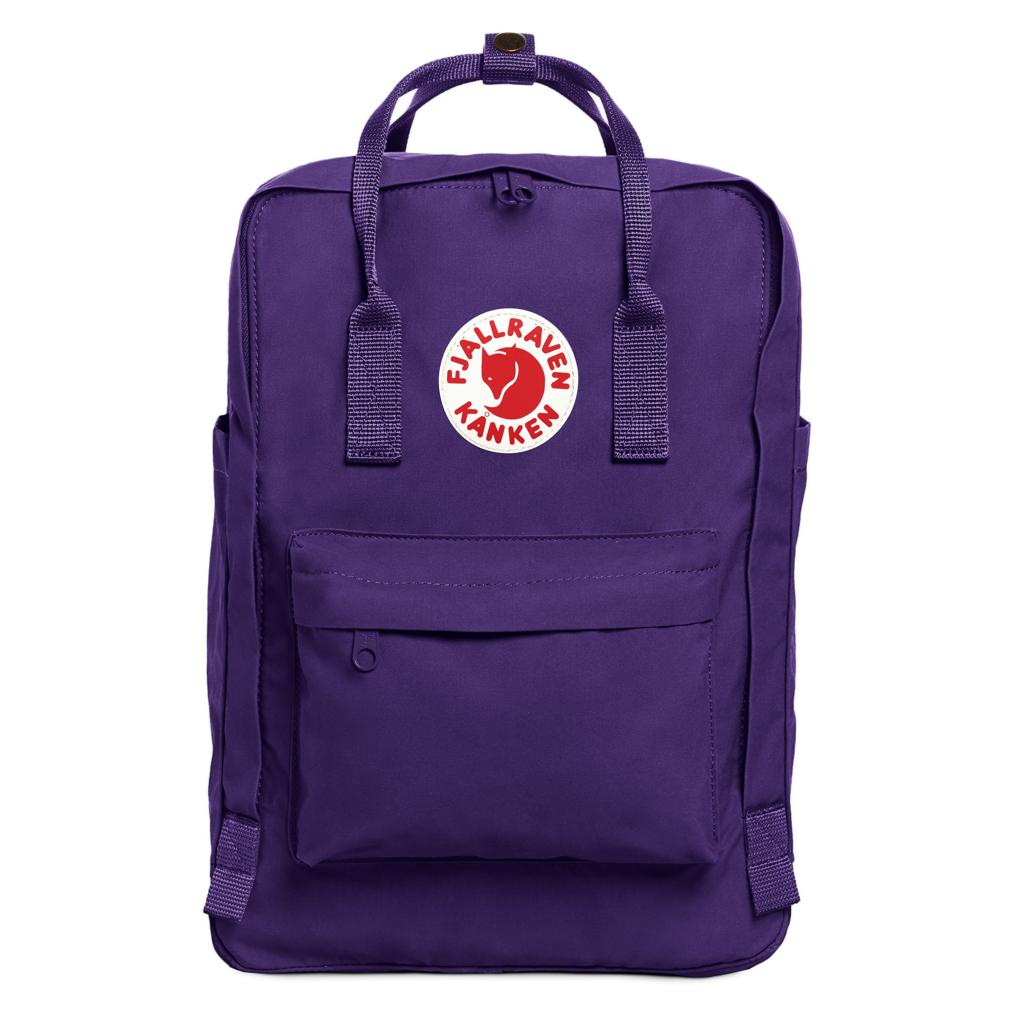 Fjallraven Kanken Laptop Backpack, Ox Red/Royal Blue, 15-Inch