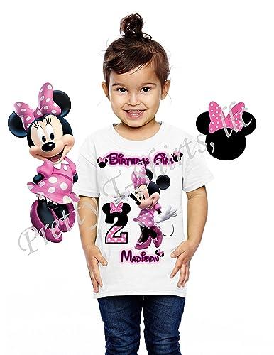 Amazon Minnie Birthday Shirt ADD Any Name And Age FAMILY Matching Shirts Disney 2 VISIT MY SHOP Handmade