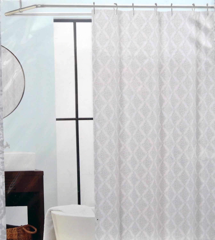 Amazoncom Tahari Palace Back E Gray  White Paisley Fabric - Beige and gray shower curtain