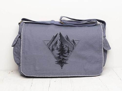 Messenger Retro Geometric Cross Body Shoulder Messenger Laptop Bag