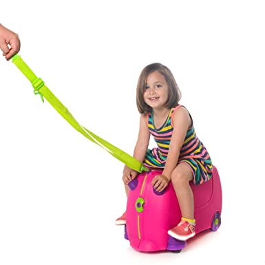 Amazon.com | Milliard Kids Ride On Suitcase, With Pull Strap and ...