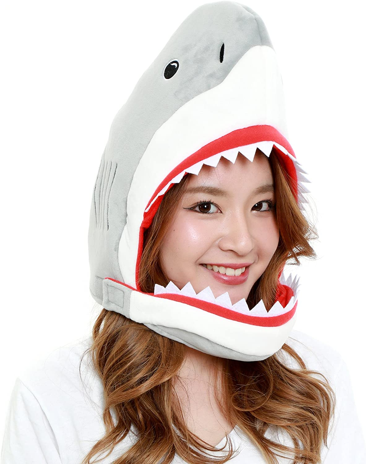 CLEVER IDIOTS INC Animal Head Mask - Plush Costume Halloween Parties & Cosplay (Shark)