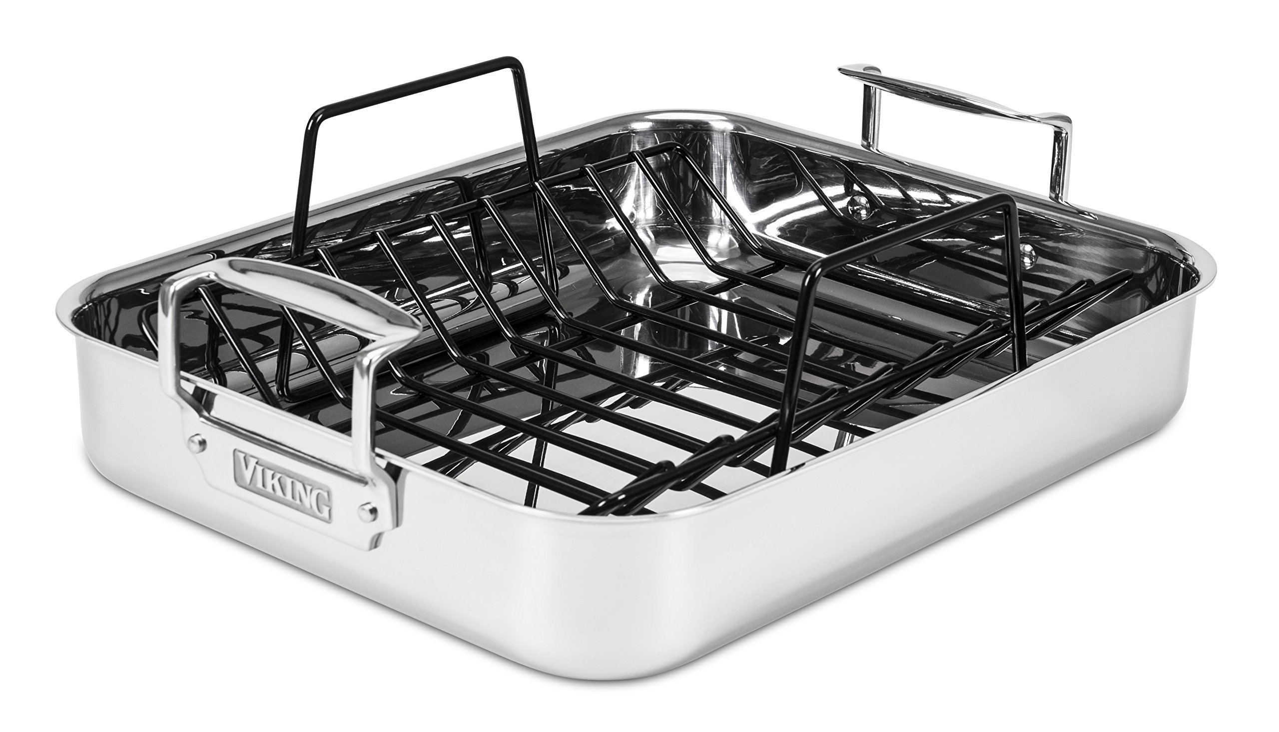 Viking 3-Ply Stainless Steel Roasting Pan with Nonstick Rack, 16 Inch by 13 Inch by Viking Culinary (Image #10)