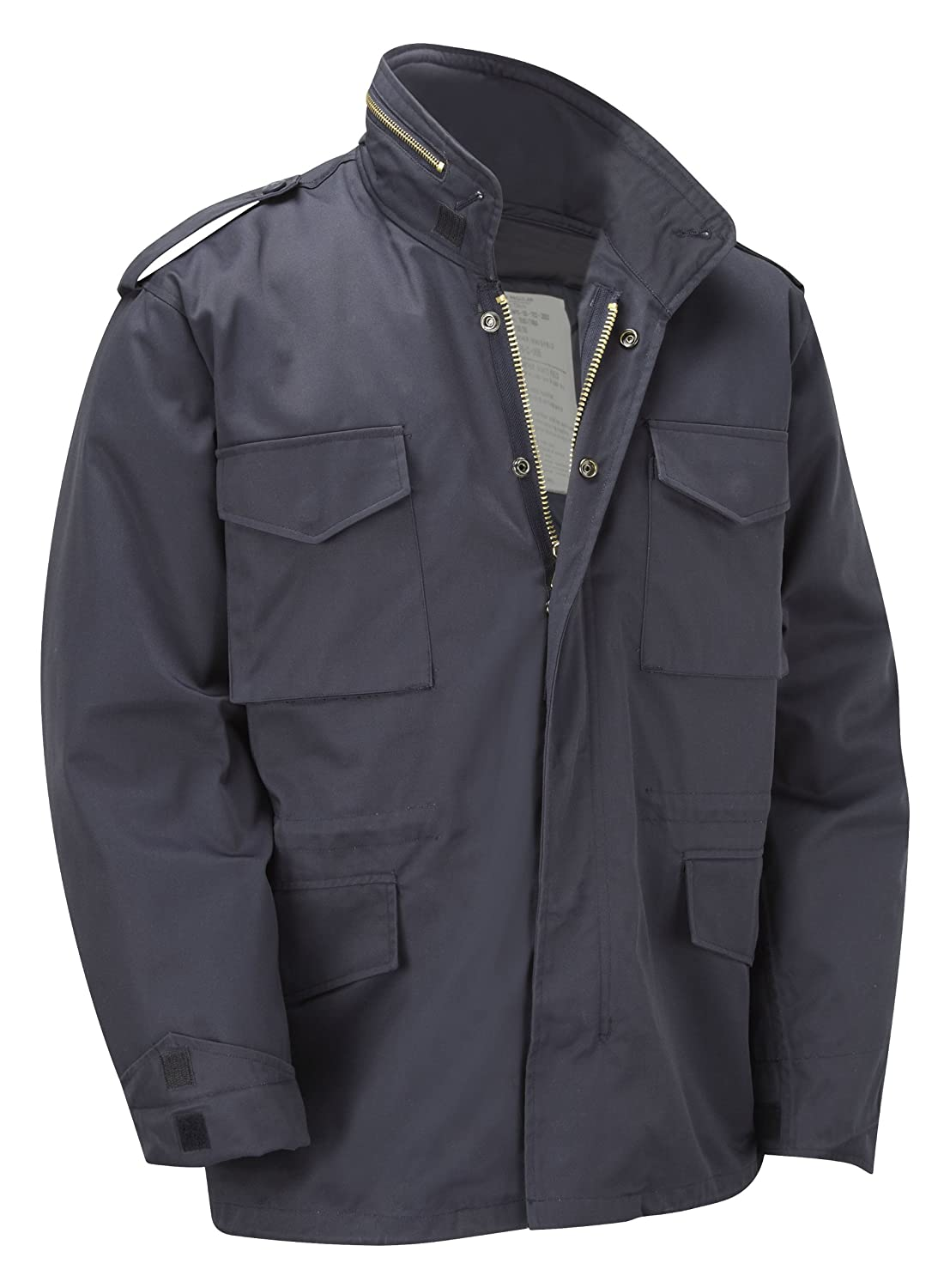 M65 Military Field Jacket With Removable Quilted Inner Liner - Navy