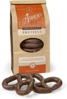 product image for Asher's Chocolates, Chocolate Covered Pretzels, Gourmet Sweet and Salty Candy, Small Batches of Kosher Chocolate, Family Owned Since 1892, (6.5oz, Dark Chocolate)