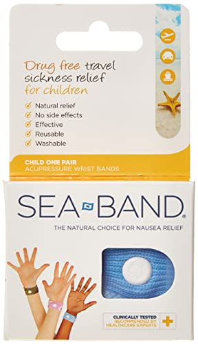 Sea-band Accupressure Wrist Band For All Types Of Nausea - Child Size, (Various Colours)
