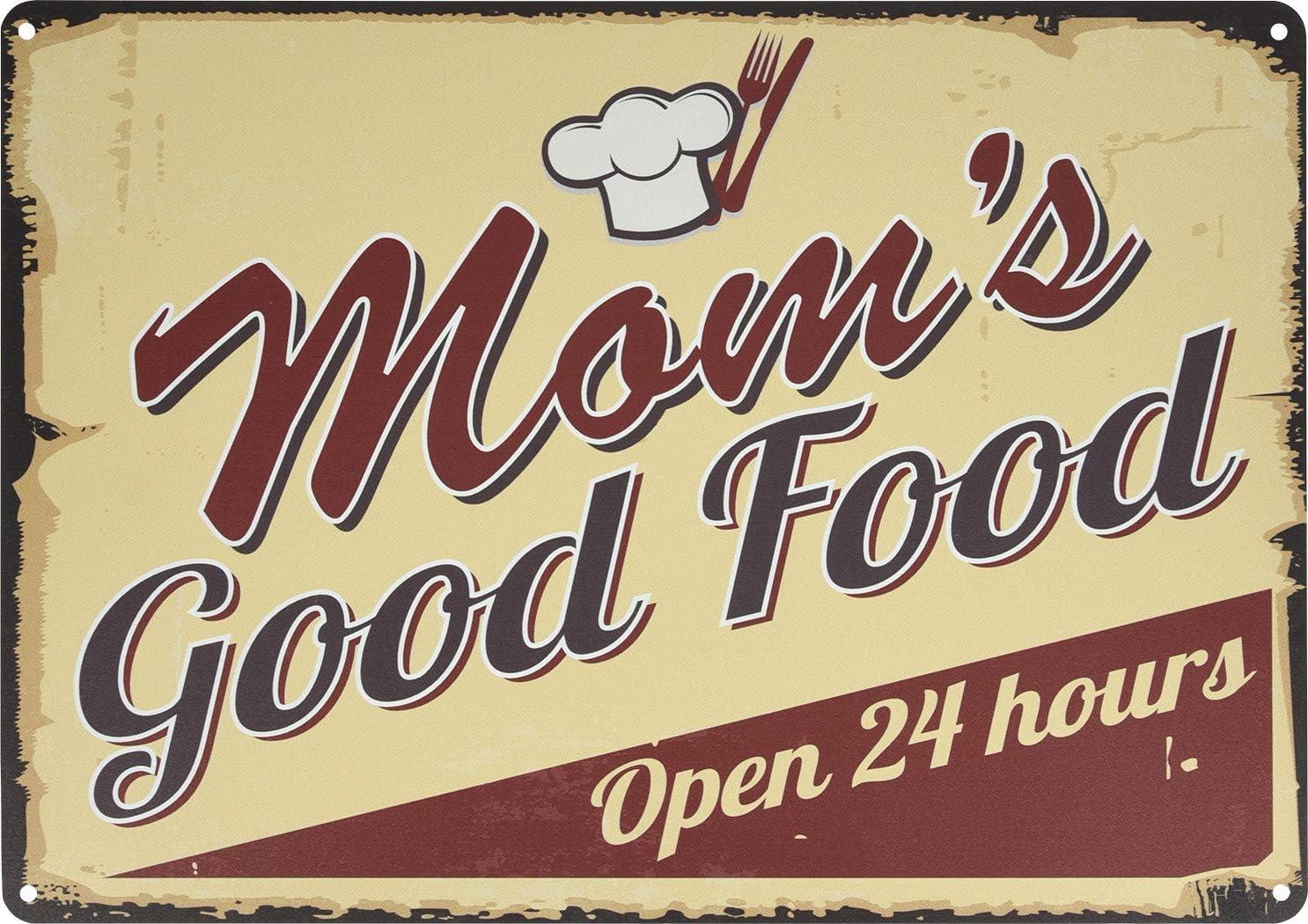 Hillman 849479 Mom's Good Food Sign, Aluminum