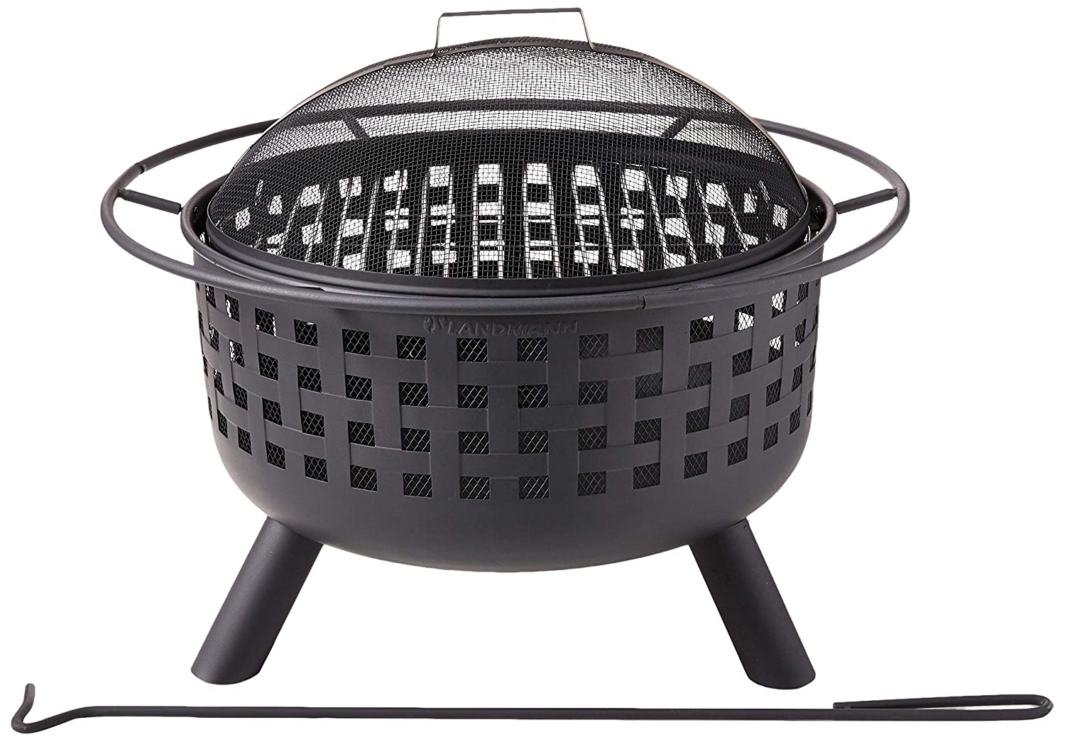 Landmann 26314 City Lights Memphis Firepit, Black