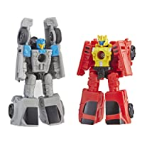 Transformers Generations War for Cybertron: Siege Micromaster Wfc-S4 Autobot Race Car Patrol 2 Pack Action Figure Toys