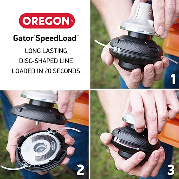 "24-518-03 DIAMETRO .118/"" OREGON Gator Speedload TRIMMER Linea 3 PZ"