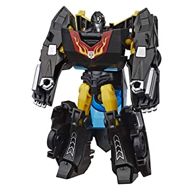 Transformers Bumblebee Cyberverse Adventures Action Attackers Warrior Class Stealth Force Hot Rod Action Figure, Fusion Flame Move, 5.4-inch: Toys & Games