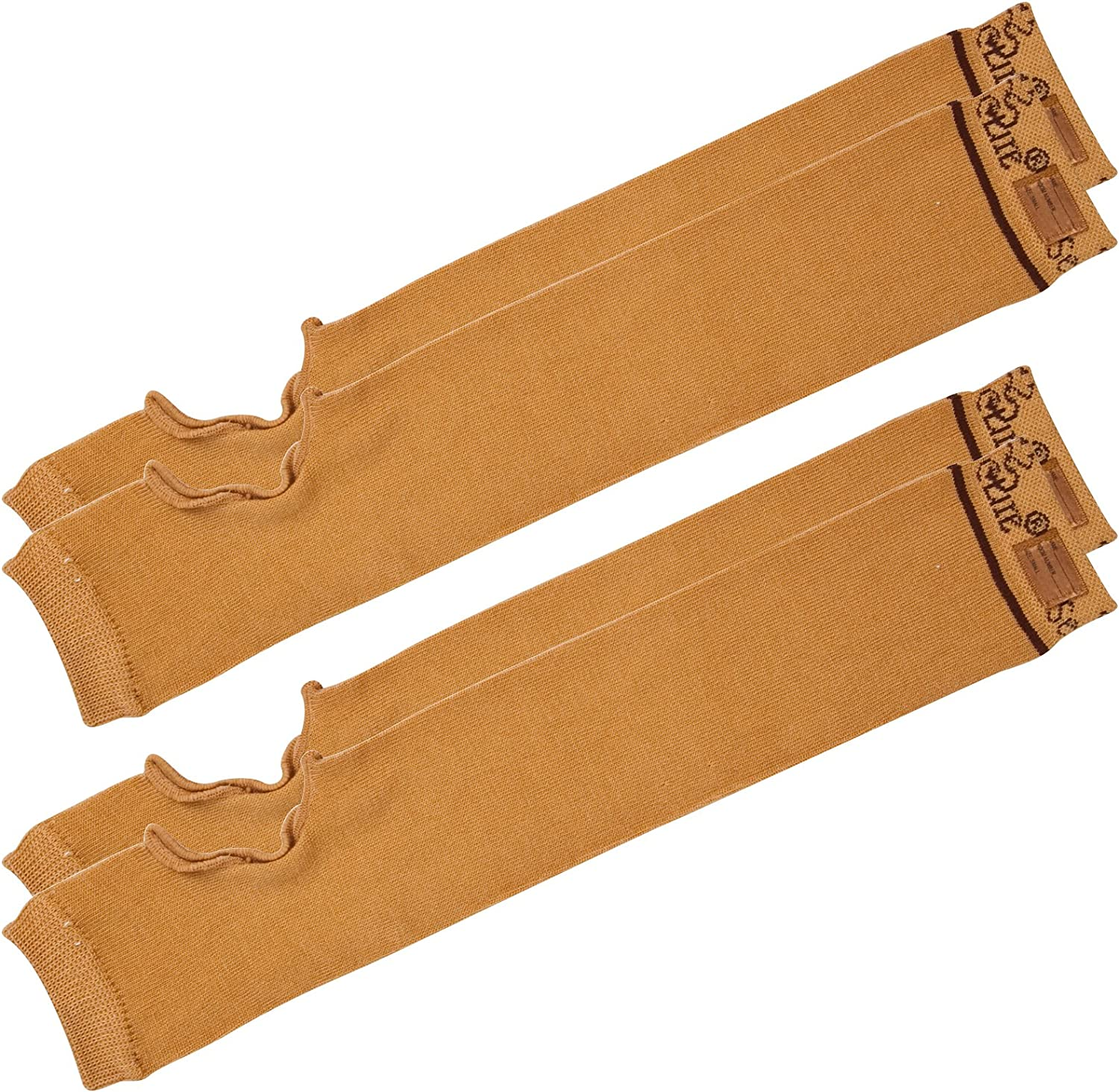 "SecureSleeves (2 Pairs) Geri Sleeves for Arms, Brown - Protects Sensitive Skin from Tears & Bruising (Small: 14.5""-15"" x 3.0"")"