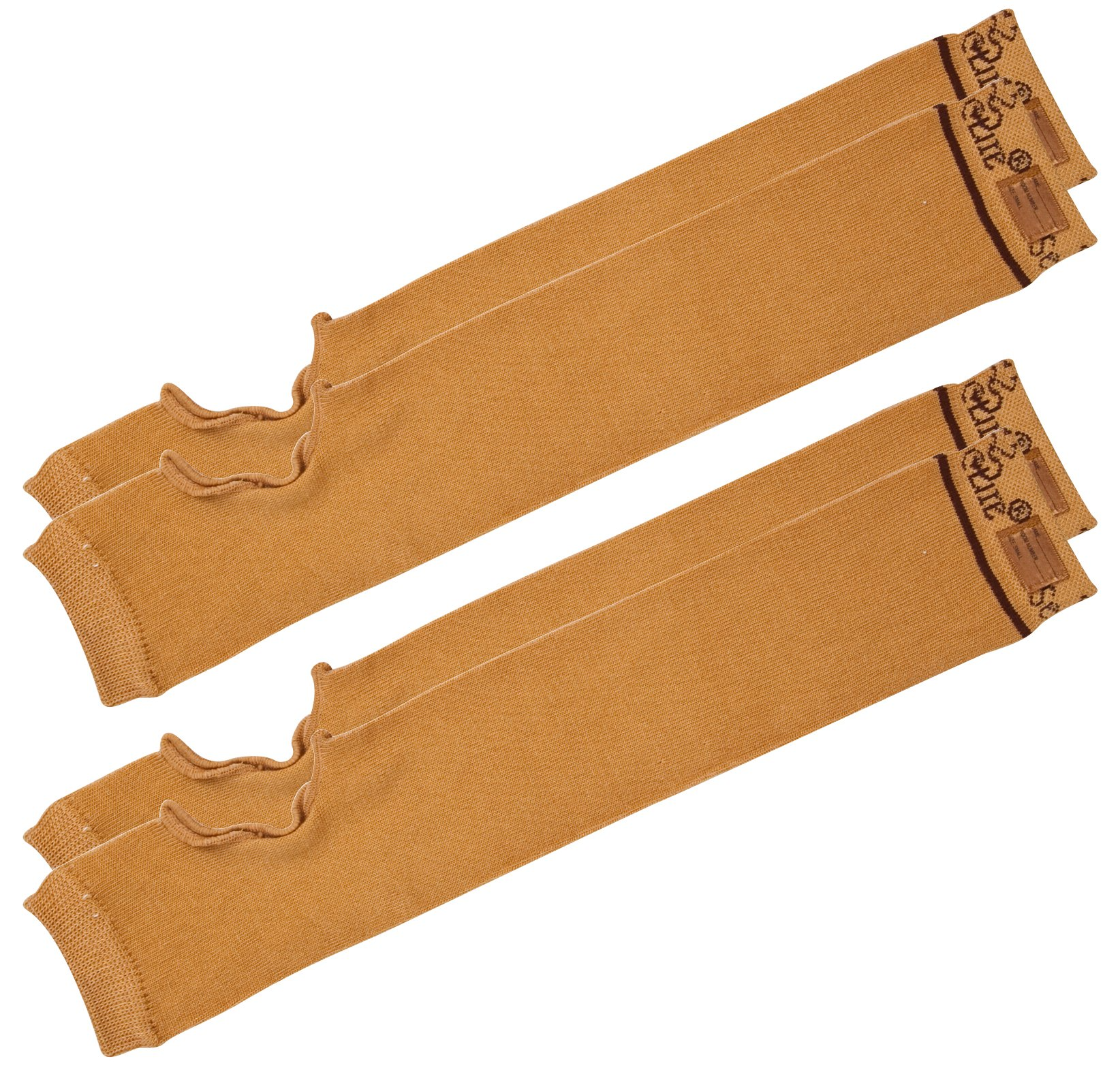 SecureSleeves® (2 Pairs) Geri Sleeves for Arm Protection, Brown - Protects Sensitive Thin Skin from Tears & Bruising (Medium: 15.5''-16'' x 3.5'')