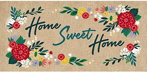 Evergreen Flag Home Sweet Home Burlap Sassafras Switch Mat – 22 x 1 x 10 Inches