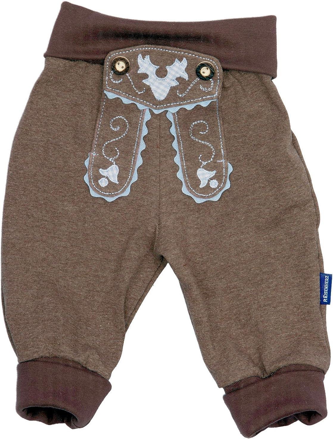 MS-Trachten Trachten Jogginghose braun Baby Kleinkind Winterfleece oder Sommerbaumwolle