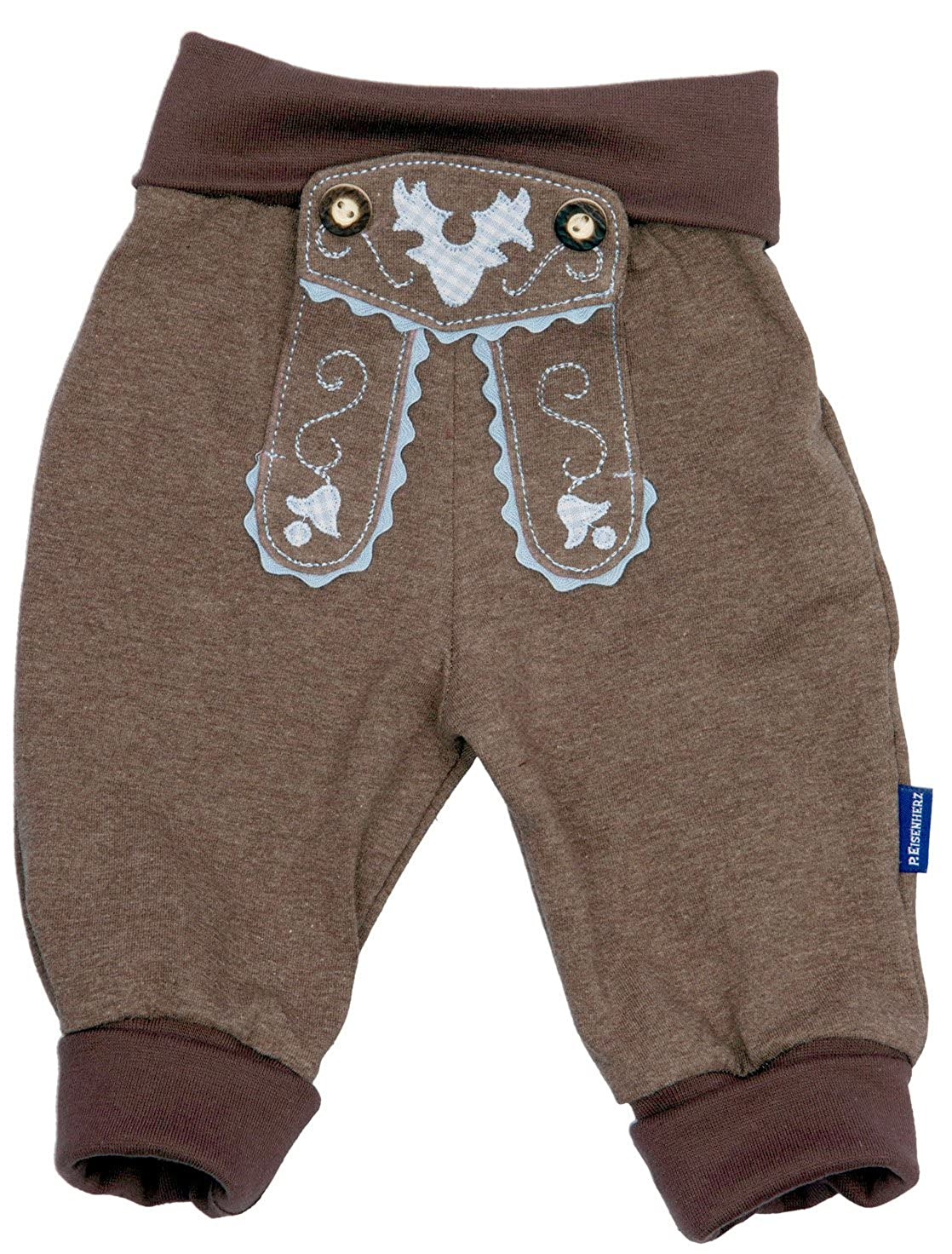 Bavaria Shop Baby Jogging Shorts Leather Look Trousers 100% Cotton in Car Sticker – Brown Bavariashop GmbH