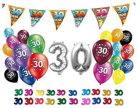 Juego de decoración de cumpleaños 30 años: Amazon.es: Hogar