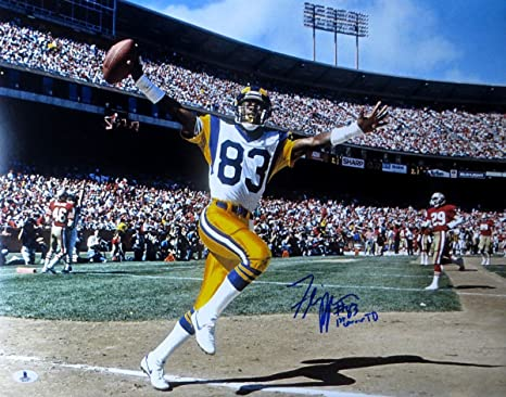 d3f18d09 Willie Flipper Anderson Autographed 16X20 Photo 1st Career TD Rams ...
