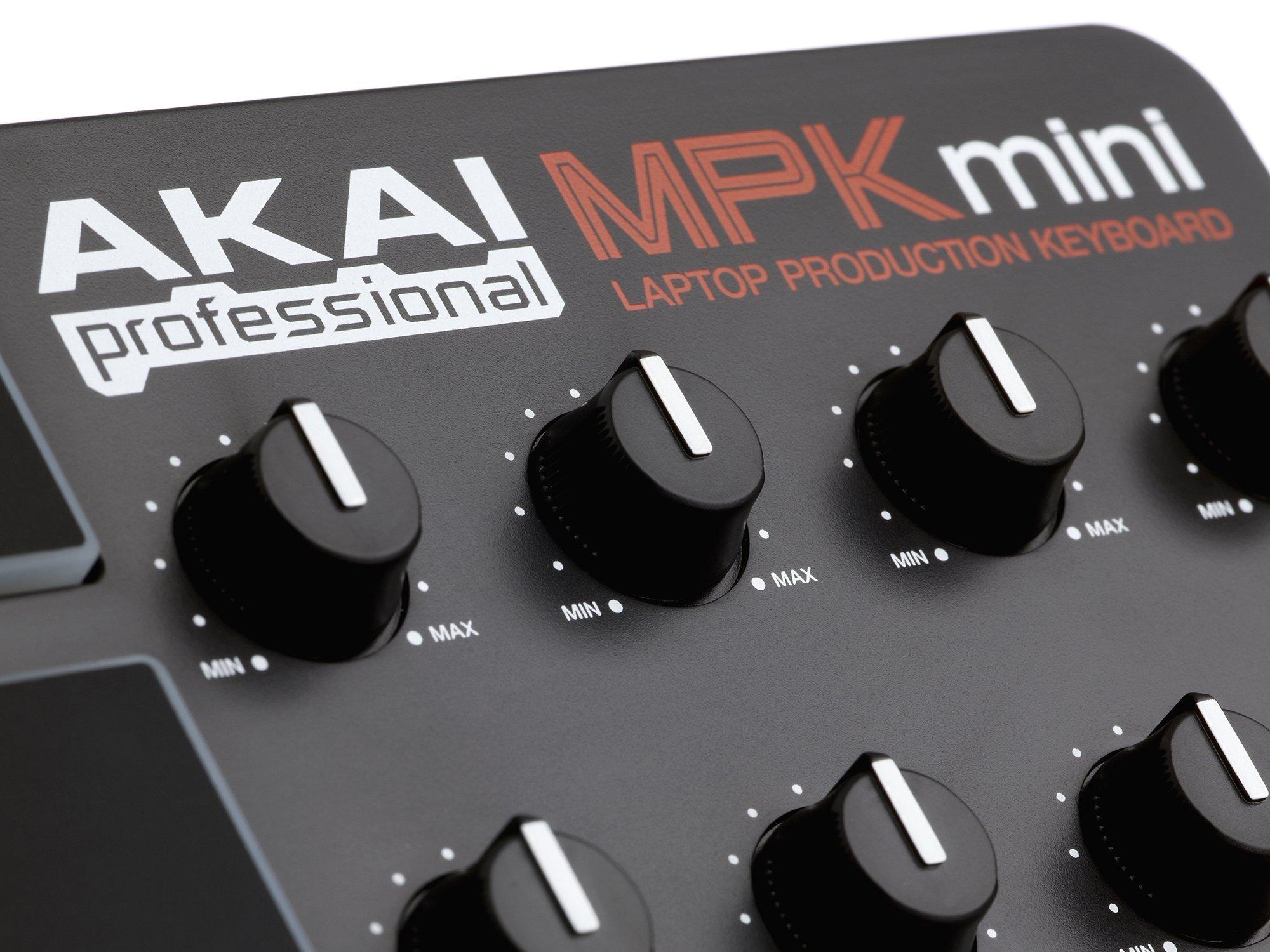 Akai Professional MPK Mini 25-Key Ultra-Portable USB MIDI Keyboard Controller (OLD MODEL) by Akai Professional