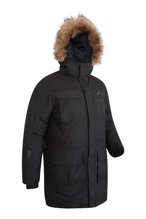 Mountain Warehouse Chaqueta Antarctic Extreme Down para Hombre - Cintura Ajustable, Abrigo Impermeable, Abrigo Transpirable y de Secado rápido para Hombre: ...
