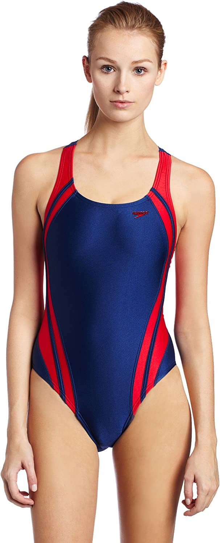 Boomstar Splice Legsuit Navy Speedo Junior Girls/' Swim