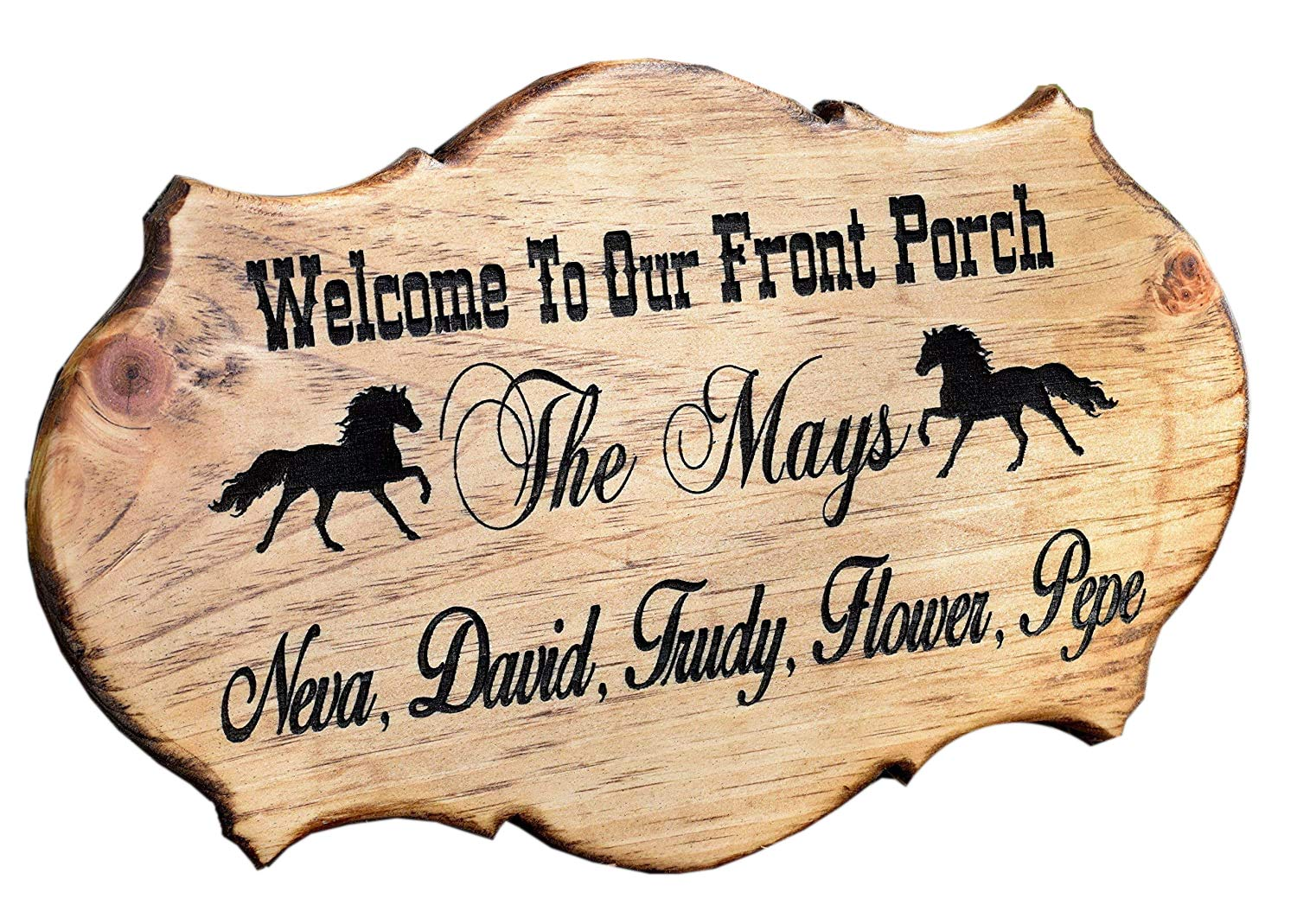 Amazon Com Front Porch Sign Address Sign Address Plaque Rustic Home Decor Personalized Gift Outdoor Address Sign Family Established Sign Handmade