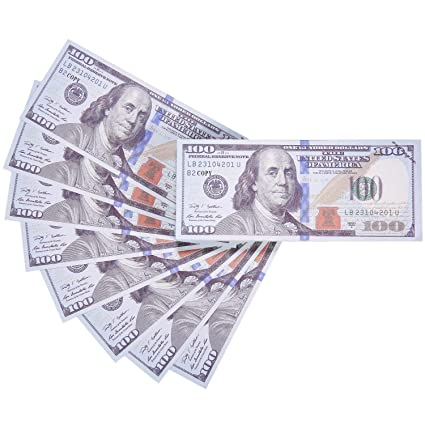 AL'IVER Copy MONEY $10000 PROP MONEY FAKE MONEY Realistic Double Sided  Money Stack 100 $100 Bills FULL PRINT