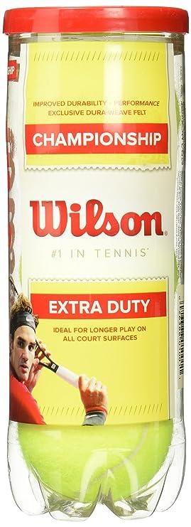 Wilson Championship Extra Duty Tennis Ball Tennis Balls at amazon