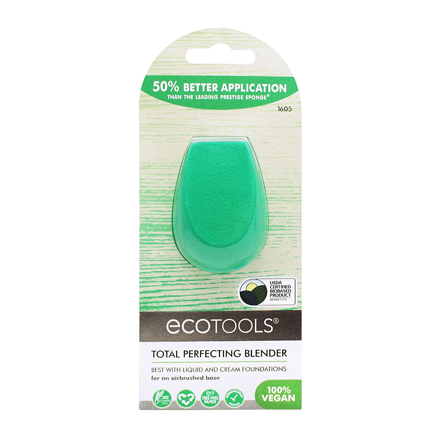 Ecotools Cruelty Free and Eco Friendly Total Perfecting Blender Sponge, Made with Recycled and Sustainable Materials Paris Presents Incorporated 1605