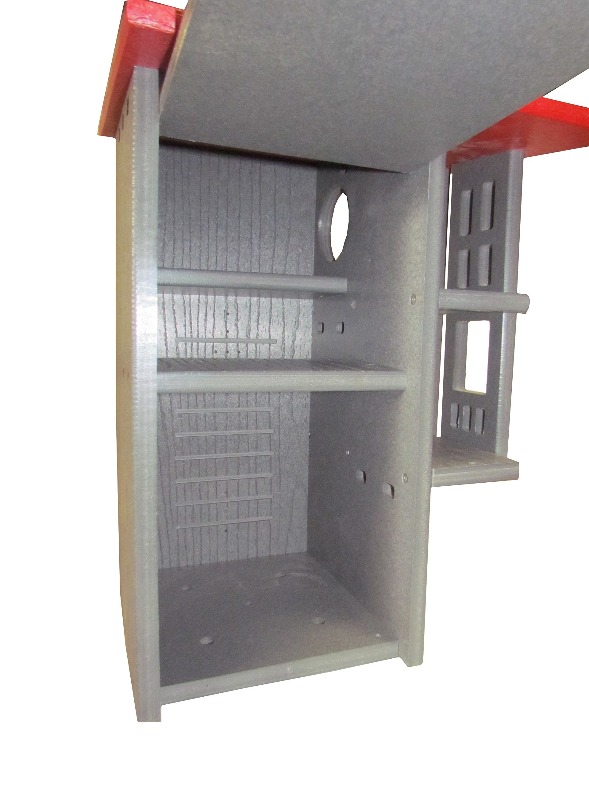 JCs Wildlife Ultimate Squirrel House Nesting Box (Red/Gray)