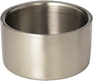 American Metalcraft SW4 Stainless Steel Double-Wall Food Coaster, Satin Finish, 4 3/4-Inch Diameter