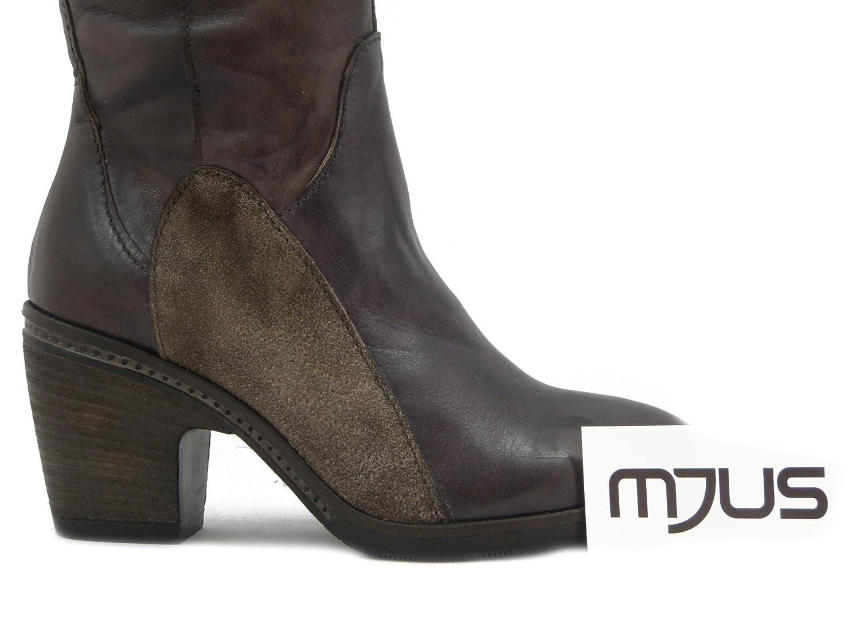 MJUS, Stivali Donna al ginocchio in Pelle Marrone Scuro